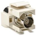 HellermannTyton BCINSERT-FW BNC Keystone Module for Wallplate-Off White