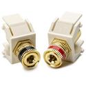 Binding Post Keystone Module-2 Pcs-Ivory