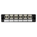 HellermannTyton VFAP6DMMLC FT Adapter Panel Preloaded with 6 Duplex LC Multimode Beige
