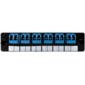 HellermannTyton VFAP6DSMLCZ FT Adapter Panel Preloaded with 6 Duplex LC SM Blue