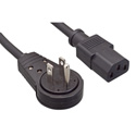 IEC-AC360-06 IEC Power Cord with 360 Degree Rotatating AC Plug - 6 Foot