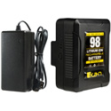 ikan C-1K-KIT-98S IB-HDL98 Compact Li-Ion Battery and Charger Kit (V-Mount)
