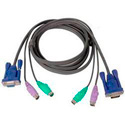 IOGear G2L5003P Micro-Lite Bonded All-in-one PS/2 VGA KVM Cable 10 Ft