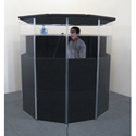 ClearSonic IsoPac E Large Acoustic Isolation Booth Dark Gray
