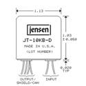 Jensen JT-10KB-D Line Input Transformer 4:1 Stepdown For BalancedBridging Inputs