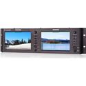 JVC DT-X7HUx2 Dual 7-Inch Full HD 4K-HDMI Non-Glaring Rack Monitor - 1920x1200 Resolution