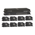 KanexPro SP-HDCAT1X8 - 1x8 HDMI Distribution Amplifier Kit