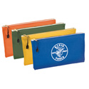Klein Tools 5140 Canvas Zipper Bags - 4 Pack