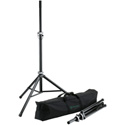 K&M 21459 2 Speaker Stands with Carrying Case