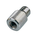 K&M 21900-000-29 3-8ths Inch Female to Half Inch Male Thread Adapter Nickel