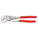 Knipex 86 03 180 - Pliers/Wrench in Single Tool - Nickel Plated - Plastic Coated Handles - Extra Narrow Gripping Jaws