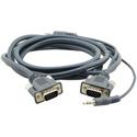 Kramer 92-7301025 15-Pin (M) to 15-Pin (M) 3.5mm Micro VGA Cable - 25 Foot