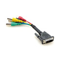 Kramer ADC-DMA/5BF-1 DVI-A (M) to 5 BNC (F) Breakout Cable - 1 Foot