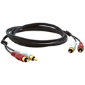 Kramer C-2RAM/2RAM-6 2 RCA (M) to 2 RCA (M) Molded Audio Cable - 6 Feet