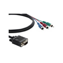 Kramer C-GM/3RVM-6 15-pin HD (M) to 3 RCA (M) Breakout Cable 6 Ft.