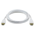 Kramer C-MHM/MHM Flexible High-Speed HDMI Cable with Ethernet and Pull Resistant Connectors - White Jacket - 25 Ft.