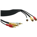 Kramer CP-3RVAM/3RVAM-35 Video/Audio Cable 3 RCA (Yellow/Red/Black) Plenum Rated Molded Connectors 35ft