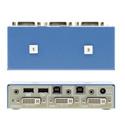 Kramer K202B HSL Secure 2-Port DVI-I KVM Switch with Audio