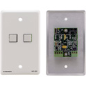 Kramer RC-2C(G) Wall Plate Insert - 2-Button Control Keypad - Gray