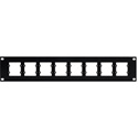 Kramer RK-WP16 19 Inch Rack Adapter for Single & Double Wall Plate Inserts