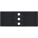 Kramer T6F-09 TBUS-6xl Inner Frames - 9 Insert Slots (6 Blank and 3 Cable Pass-Through Inserts) for Table Mount System
