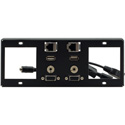 Kramer T6F-2S TBUS-6xl Inner Frames - 2 Single Power Sockets - 15-Pin HD / USB-A / RJ-45 / 3.5mm Inserts