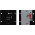 Kramer W-2UC Wall Plate Insert - Dual USB Charger - Black