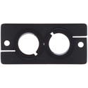 Kramer W-CP2-B Dual Cable Pass Through Wall Plate - Black