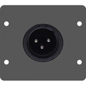 Kramer WA-1XLM Wall Plate Insert - XLR(M) - Black