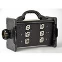 Lex BNZJ2-6M Bento Breakout Box LSC19 panel Mount to (6) 20A Neutrik PowerCon Receptacle with LSC19 Feed Thru Power Dist