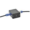Lex DB20PC-SBPC PowerCON 20 Amp Power Distribution Quad Box with Dual NEMA 5-20 Outlets & powerCON Feed Thru