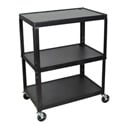 Luxor AVJ42XL Steel Adjustable Height Extra Large AV Cart