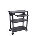 Luxor EA42LE-B 42 Inch Presentation Cart - 3 Shelves - Pullout