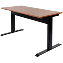 Luxor SPN56F-BK/TK Pneumatic Adjustable Height Standing Desk - 56 Inch