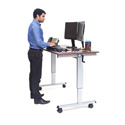 Luxor STANDUP-CF60-DW 60 Inch Crank Adjustable Stand Up Desk