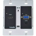 Intelix AS-1H1V-WP-B HDMI/VGA Auto-Switching/Scaling Wallplate with HDBaseT Output - Black