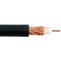 Liberty RG59-CCTV-CM-BLK Line Level Audio RG59 Coaxial Cable 1000 Ft - Black