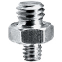 Manfrotto 147 Short Adapter Spigot with 3/8 Inch and 1/4 Inch Screw Attachments