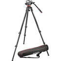 Manfrotto MVK502C-1 502C Fluid Head With 535 Carbon Fiber Tripod and Carry Bag