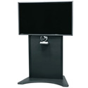 Middle Atlantic FVS-800S-BK Flexview Single Display Cart - 42 To 80 Inch Monitor - Black
