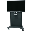 Middle Atlantic FVS-800SC-BK Flexview Single Display Cart with 4 Inch Casters - Vesa 800 Mount - Black