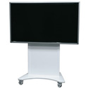 Middle Atlantic FVS-800SC-WH Flexview Single Display Cart with 4 Inch Casters - Vesa 800 Mount - White