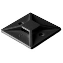 HellermanTyton MB3A0C2 Cable Tie Mount w/ Rubber Adhesive .75 x .75 Inch 100 Pk