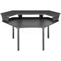 Multi-Desk Corner Unit with Configurable 1-Piece Overbridge