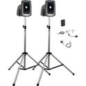 Anchor MegaVox Deluxe AIR Package 1 w/ MEGA2-XU2 MEGA2-AIR 2 SS-550 1 WB-LINK BodyPack w/ 1 Lapel & 1 Headset mic