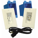 MidLite A46 In-Wall TVPower Solution Kit Almond