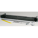Canare MJ2-M32-1U-BLK 2x32 1 RU Unloaded Patch Panel with Jack Mount Screws 1RU