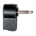 Right Angle 3.5mm Mini Male Plug Cable End (mono)