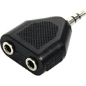Mini Stereo Male to Dual Mini Stereo Female Audio Adapter