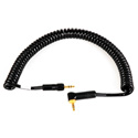 Sony Style Wireless Mini TRS Right Angle to Mini TRS Locking Cable 3Ft Coiled